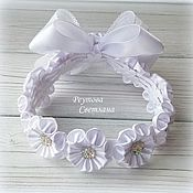 Работы для детей, handmade. Livemaster - original item The decoration on the beam in the technique of kanzashi. Handmade.