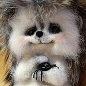 Куклы и игрушки ручной работы. Ярмарка Мастеров - ручная работа Федечка. Валяный ёжик с натуральным мехом. Handmade.