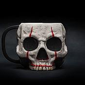 Посуда handmade. Livemaster - original item IT`s A Pennywise Mug. Ceramic, for tea and coffee. Pennywise Mug. Handmade.