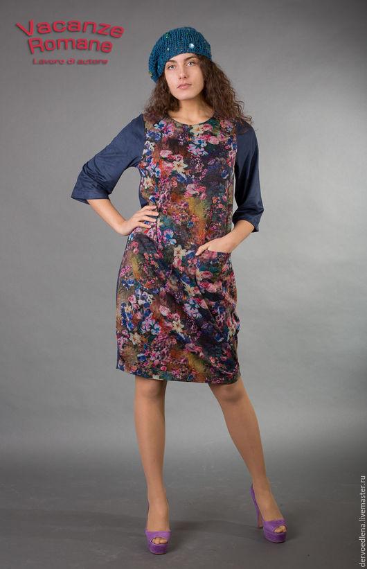 Платья ручной работы. Ярмарка Мастеров - ручная работа. Купить Vacanze Romane-1270. Handmade. Цветочный, стильное платье