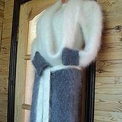 Платья ручной работы. Ярмарка Мастеров - ручная работа Платье комбинированное пуховое. Handmade.