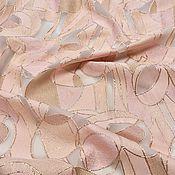 Материалы для творчества ручной работы. Ярмарка Мастеров - ручная работа Жаккард Valentino геометрический узор в розовых пудровых тона нарядный. Handmade.