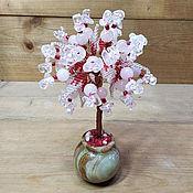 Цветы и флористика handmade. Livemaster - original item A tree made of semi-precious stones