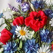 Картины ручной работы. Ярмарка Мастеров - ручная работа Картины: Букет полевых цветов. Handmade.
