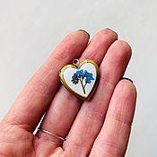 Украшения handmade. Livemaster - original item Pendant-locket with flower Pansy. Handmade.