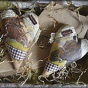 """Подарки к праздникам ручной работы. Ярмарка Мастеров - ручная работа Большое текстильное кофейное сердечко """"HORSES"""". Handmade."""