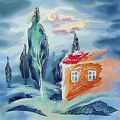 Картины и панно ручной работы. Ярмарка Мастеров - ручная работа Панно Домик. Handmade.