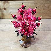 Цветы и флористика handmade. Livemaster - original item composition: Coral flowers