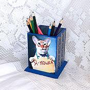 Канцелярские товары handmade. Livemaster - original item Pencil I - cat!. Handmade.