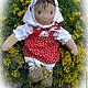 Вальдорфская игрушка ручной работы. Ярмарка Мастеров - ручная работа. Купить Текстильная кукла Машенька.. Handmade. Кукла ручной работы