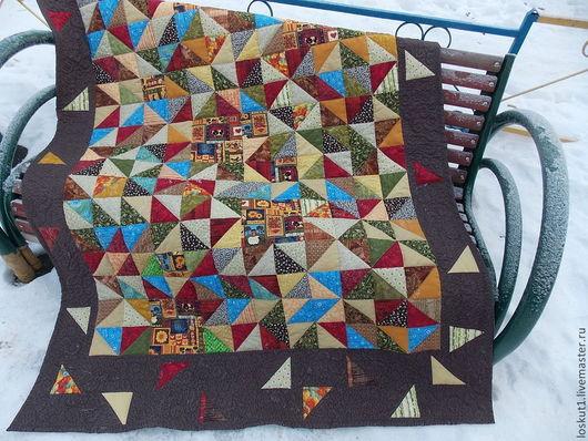 Текстиль, ковры ручной работы. Ярмарка Мастеров - ручная работа. Купить Деревенское лоскутное одеяло. Handmade. Лоскутное одеяло