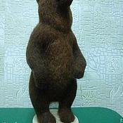 Куклы и игрушки ручной работы. Ярмарка Мастеров - ручная работа Медведица из шерсти. Handmade.