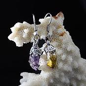 """Украшения ручной работы. Ярмарка Мастеров - ручная работа Серьги-капли """"Магия самоцветов"""" (кристаллы) 64/44. Handmade."""