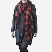 Одежда handmade. Livemaster - original item Jersey dress with a boxy fit and a high collar. Handmade.