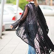 Одежда handmade. Livemaster - original item Lace cardigan, Black cardigan, Women`s cardigan. Handmade.