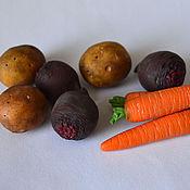 Куклы и игрушки ручной работы. Ярмарка Мастеров - ручная работа Мини фрукты и овощи. Handmade.