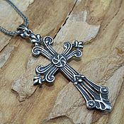 handmade. Livemaster - original item Men`s cross, Gregorian in 925 sterling silver HH0079. Handmade.