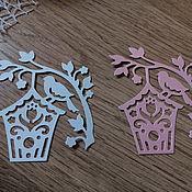 Материалы для творчества handmade. Livemaster - original item Cutting for scrapbooking on Skvorushka twig. Handmade.