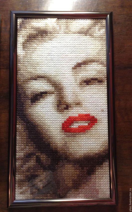 Люди, ручной работы. Ярмарка Мастеров - ручная работа. Купить Marilyn Monroe. Handmade. Бежевый, звезда, актриса, дива, канва