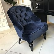 Кресла ручной работы. Ярмарка Мастеров - ручная работа Мягкое кресло Лион синее - доступно в 60 разных цветах. Handmade.