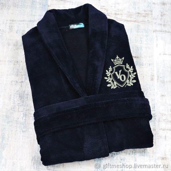 """Бамбуковый халат с именной вышивкой """"Лорд"""", Именные сувениры, Москва,  Фото №1"""