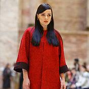"""Одежда ручной работы. Ярмарка Мастеров - ручная работа валяное пальто """"красное и черное"""". Handmade."""