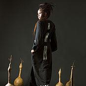 Одежда handmade. Livemaster - original item Maxi Length Linen Ethnic Dress «Nebula». Handmade.