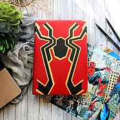 """Блокноты ручной работы. Ярмарка Мастеров - ручная работа Блокнот """"Marvel"""" с Человеком-пауком. Handmade."""