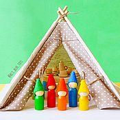 Кукольные домики ручной работы. Ярмарка Мастеров - ручная работа Вигвам для игрушек. Handmade.