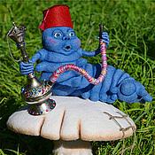 """Куклы и игрушки ручной работы. Ярмарка Мастеров - ручная работа Синяя Гусеница из """"Алисы в стране чудес"""". Handmade."""