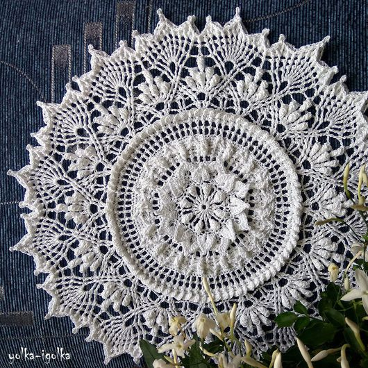 Текстиль, ковры ручной работы. Ярмарка Мастеров - ручная работа. Купить Белая салфетка. Handmade. Салфетка, ажурная салфетка, белый