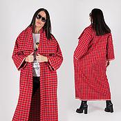 handmade. Livemaster - original item Demi-season plaid wool coat-VE0508WK. Handmade.