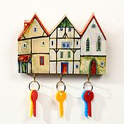 Для дома и интерьера handmade. Livemaster - original item The housekeeper is a wall-mounted Small houses. Handmade.