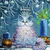 Картины и панно handmade. Livemaster - original item Picture of my snow Queen. Handmade.