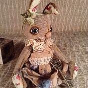 Куклы и игрушки ручной работы. Ярмарка Мастеров - ручная работа Тедди зайка в платье. Handmade.