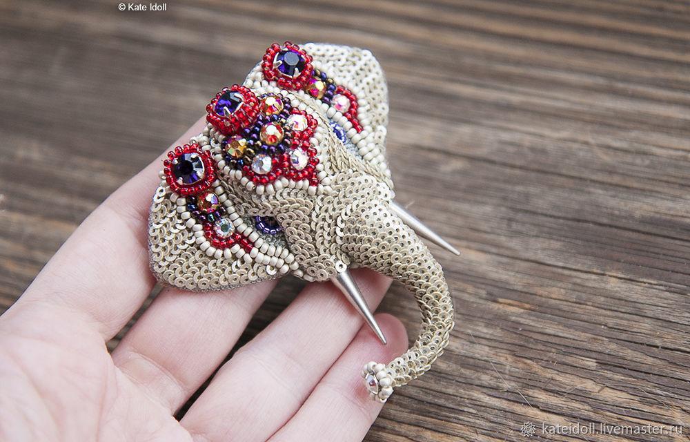 Брошь Серебряный Слон, Брошь-булавка, Киев,  Фото №1