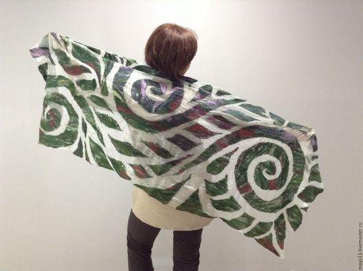 Валяные шарфы и палантины ручной работы