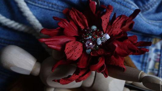 Комплекты аксессуаров ручной работы. Ярмарка Мастеров - ручная работа. Купить Брошь-цветок. Handmade. Комбинированный, брошь, брошь цветок