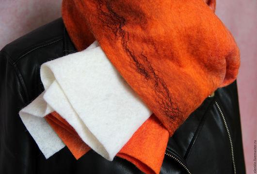 """Шарфы и шарфики ручной работы. Ярмарка Мастеров - ручная работа. Купить Валяный шарф """"Лис"""". Handmade. Рыжий, подарок"""