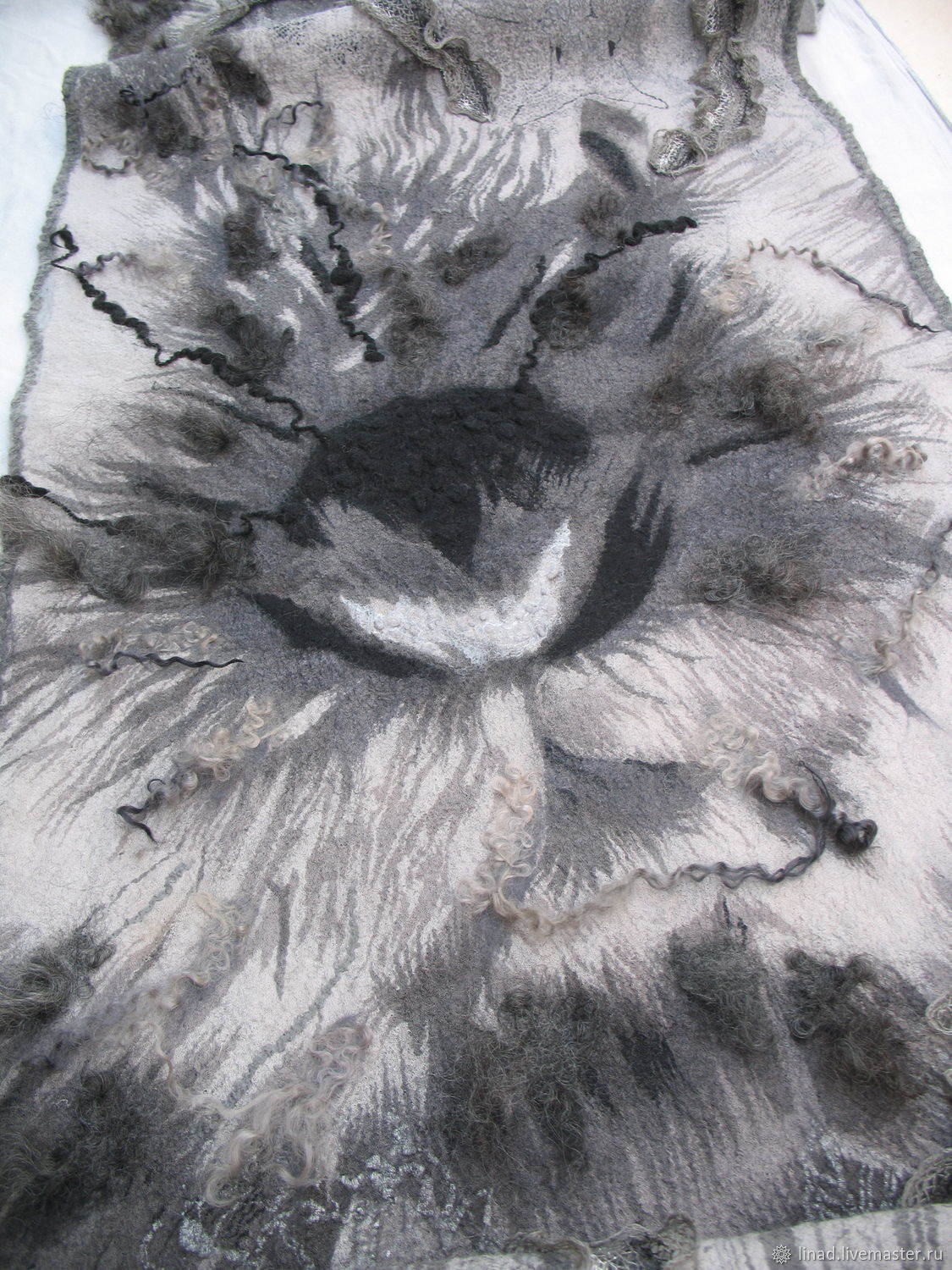 Felted stole, Cape ' Silver forest', Wraps, Kherson,  Фото №1