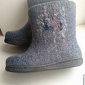 """Обувь ручной работы. Ярмарка Мастеров - ручная работа Сапоги-валенки """"Голубая ара"""". Handmade."""