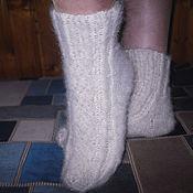 Аксессуары handmade. Livemaster - original item Women`s knitted socks White fire. Handmade.