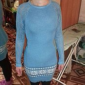 Одежда ручной работы. Ярмарка Мастеров - ручная работа ажурное платье с орнаментом. Handmade.