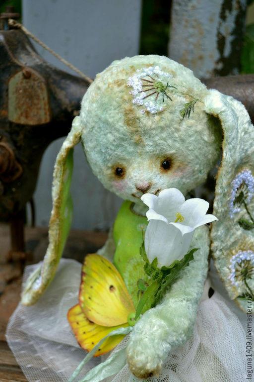 """Мишки Тедди ручной работы. Ярмарка Мастеров - ручная работа. Купить Плюшевая зайка """"Одуванчик"""". Handmade. Разноцветный, тедди"""