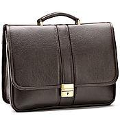 Сумки и аксессуары handmade. Livemaster - original item Leather briefcase Salerno (brown). Handmade.