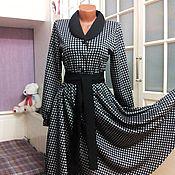 Одежда ручной работы. Ярмарка Мастеров - ручная работа Трикотажное платье миди с юбкой полусолнце Тереза 3. Handmade.