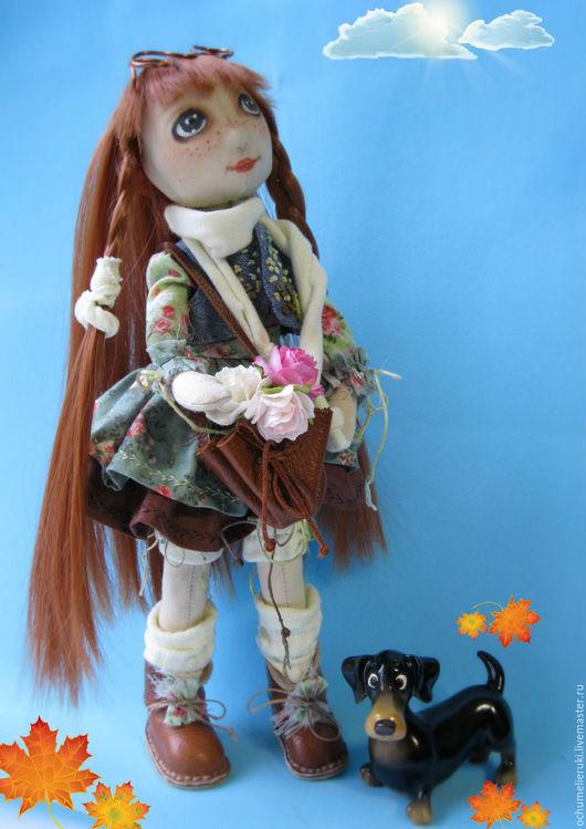 Коллекционные куклы ручной работы. Ярмарка Мастеров - ручная работа. Купить Каркасная текстильная кукла. Авторская кукла. Handmade. Рыжий