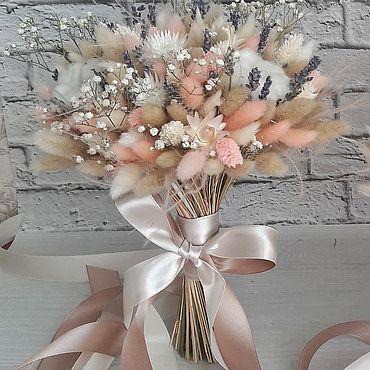 Свадебный салон ручной работы. Ярмарка Мастеров - ручная работа Свадебный букет из сухоцветов. Handmade.