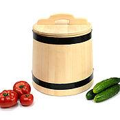 Посуда handmade. Livemaster - original item The wooden tub made of cedar for pickling 5 liters. Barrel pickles. Handmade.
