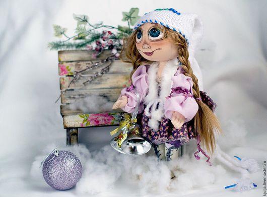 Коллекционные куклы ручной работы. Ярмарка Мастеров - ручная работа. Купить Кукла Лея. Handmade. Бежевый, текстильная игрушка